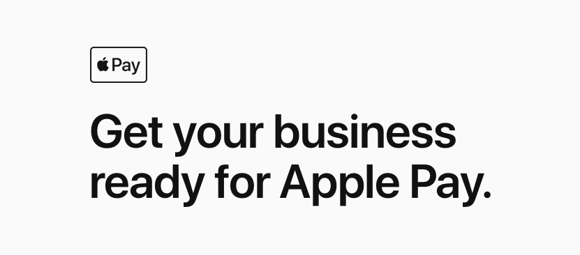 Get your business ready for Apple Pay